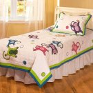 Monkey Business Cotton Patchwork Twin Quilt Set