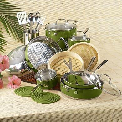 Roy Yamaguchi 22-Piece  Cookware Set