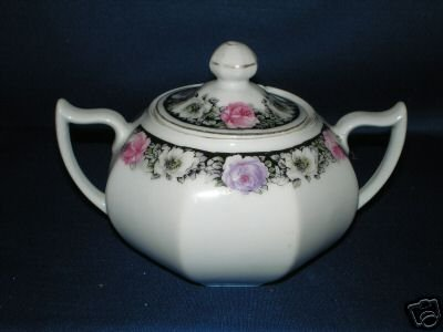SINGLE Z S C BAVARIA COVERED SUGAR POT DISH AS SHOWN