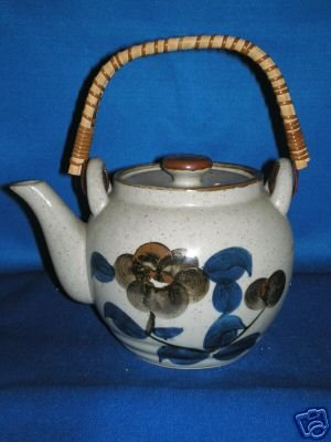 FLORAL CLAY TEA POT AS SHOWN