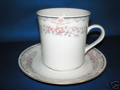 FLORAL TEA CUP AND SAUCER SET AS SHOWN CHINA PEARL
