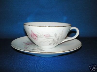 FLORAL TEA CUP AND SAUCER SET AS SHOWN CAMELOT AM ROSE