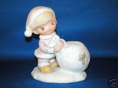FIGURINE HOMCO CHRISTMAS KIDS & TOY BAG 5613 STAMP
