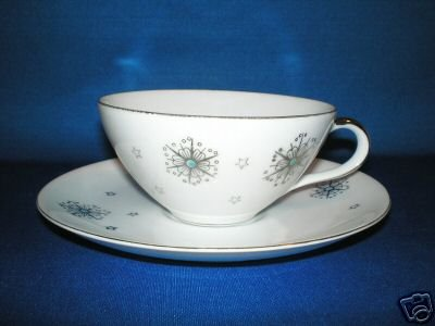 FLORAL TEA CUP AND SAUCER SET AS SHOWN SUMMIT STARDUST