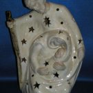 MARY JOSEPH BABY JESUS CLAY CANDLE TEA LIGHT HOLDER