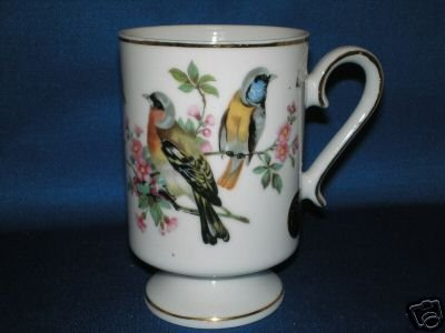 ROYAL CROWN SMUG MUGS LOVE BIRDS COFFEE MUGS 4383