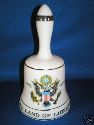 COLLECTIBLE BELL AS SHOWN~THE LAND OF LIBERTY