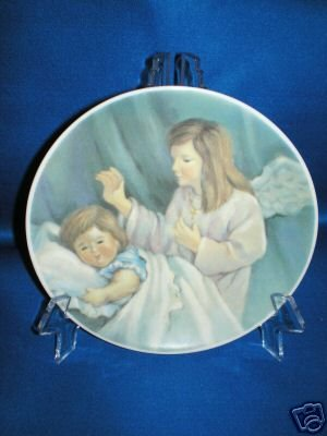 COLLECTOR PLATE SLEEPING CHILD WITH GUARDIAN ANGEL