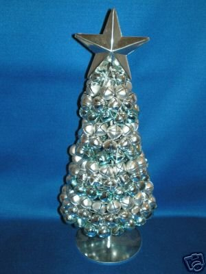 CHRISTMAS DECORATION AS SHOWN SILVER BELL TREE