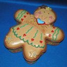 CHRISTMAS DECORATION AS SHOWN GINGERBREAD TRINKET BOX