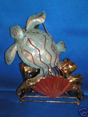 SEA TURTLE BRASS SCULPTURE