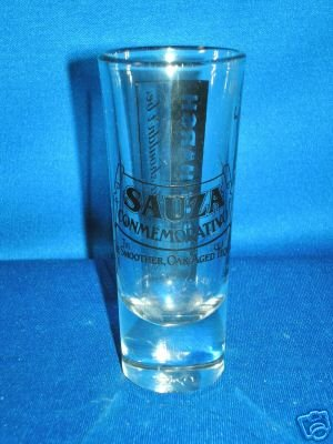 SHOT GLASS AS SHOWN~SAUZA CONMEMORATIVO TEQUILA