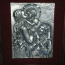 VINTAGE PELTRO CESELLATO A MANO ITALY PEWTER HOLY FAMILY
