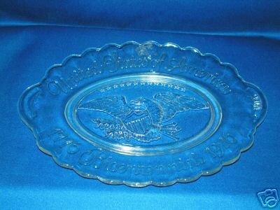 GLASS USA BICENTENNIAL 1976 OVAL SERVING DISH