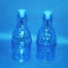 OLD BLUE GLASS BOTTLES SALT AND PEPPER SHAKERS SETS