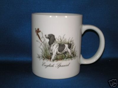ENGLISH SPANIEL COFFEE CUP AS SHOWN