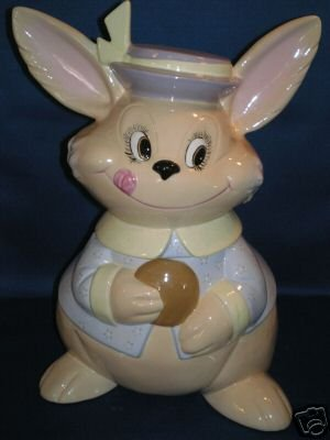 COOKIE JAR AS SHOWN~EASTER BUNNY RABBIT