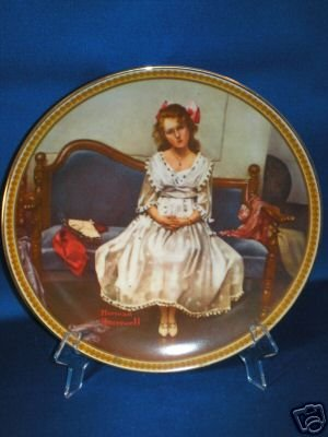 COLLECTOR PLATE NORMAN ROCKWELL WAITING AT THE DANCE