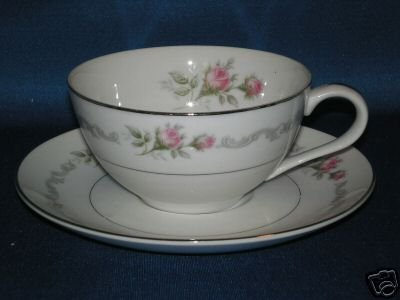 FLORAL TEA CUP AND SAUCER MIKASA FIRST LOVE