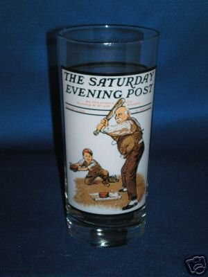 GLASSWARE AS SHOWN~GRAMPS ENCOUNTERS NORMAN ROCKWELL