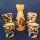 JAPANESE SAKI  CUP PITCHER SET OF SEVEN