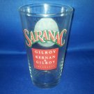 GLASSWARE AS SHOWN-SARANAC BEER GLASS UTICA NY