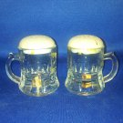 VINTAGE SALT AND PEPPER SHAKERS SET BEER STEINS