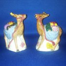 VINTAGE SALT AND PEPPER SHAKERS SET CHRISTMAS REINDEER