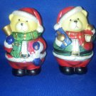 VINTAGE SALT AND PEPPER SHAKERS SET CHRISTMAS BEARS