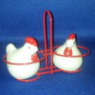 VINTAGE SALT AND PEPPER SHAKERS SET CHICKEN IN BASKET