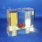 VINTAGE SALT AND PEPPER SHAKERS SET 1 PIECE PLASTIC