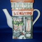 DECORATIVE TEA POT LE BISTRO