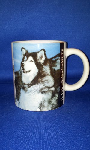 ALASKAN MALAMUTE DOG COFFEE MUG AS SHOWN