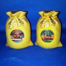 VINTAGE SALT AND PEPPER SHAKERS SET OREGON SACK