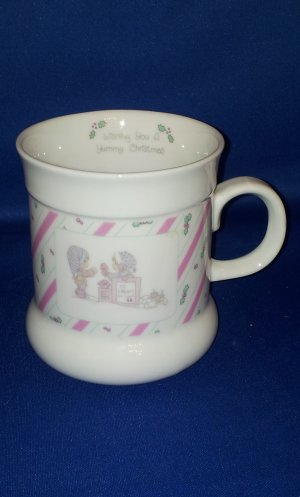 PRECIOUS MOMENTS CHRISTMAS COFFEE MUG AS SHOWN