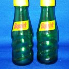 VINTAGE SALT AND PEPPER SHAKERS SET SQUIRT BOTTLES SODA