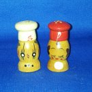 VINTAGE SALT AND PEPPER SHAKERS SET SMALL WOODEN SALTY PEPPY