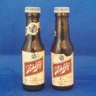 VINTAGE SALT AND PEPPER SHAKERS SETS SCHLITZ BEER BOTTLES