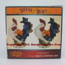Cracker Barrel Break Of Dawn Rooster Salt & Pepper Set