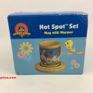 Looney Tunes Hot Spot Set Mug With Warmer - Tweety