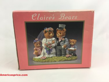 Claire's Bears Adorable Hand Painted Resin Sculptures