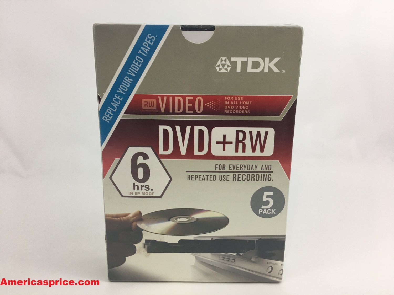 TDK DVD-RW 2X 4.7GB - GO 5 Pack Rewriteable DVD - 993390