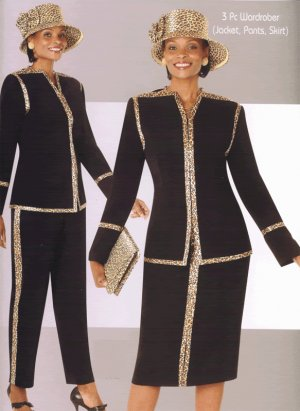 Woman's TERRAMINA 3-piece suit Size 26 in BLACK
