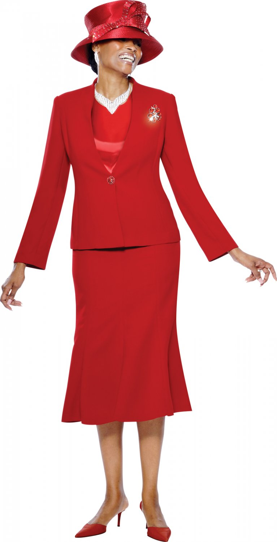 Red Terramina Suit #7191