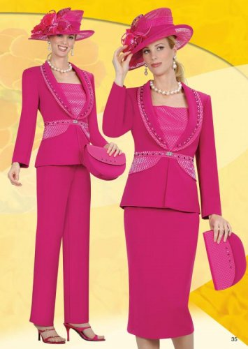 Woman'sSize 8 Champagne Italy Suit #3809