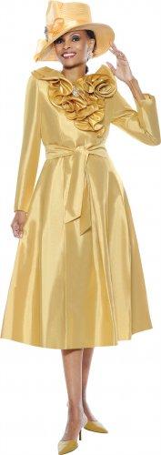 Susanna 3375 Ruffle Collar Tie Waist Dress
