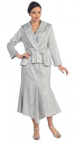 Size 3X Woman's Metallic Gold Skirt Suit