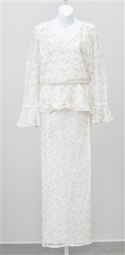 Woman's Ashro 626682 Beaded Lace 2pc Dress