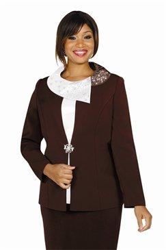Francessca Bellini 27276 Asymmetric Portrait Collar 3pc Suit