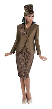 Woman's SZ 26  Tally Taylor 4366 Animal Print 3pc Suit